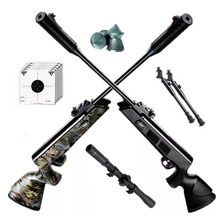 Rifle Aire Comprimido Fox Nitro Compact Bipode Mira Balines
