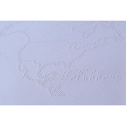Mapa en relieve - Papel