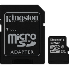 Memoria Micro Sd Hc 32 Gb Kingston Clase 10 Powerzon