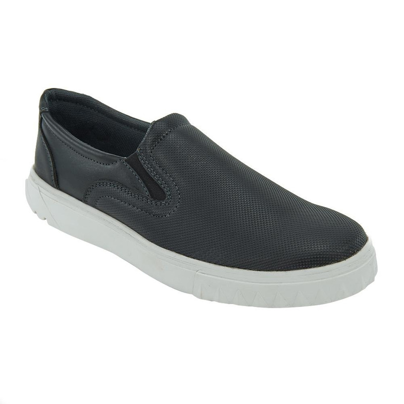 Sneakers Negro Con Suela Blanca 017541