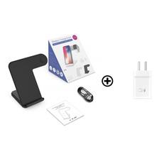 Base De Carga Inalambrica 2 En 1 iPhone Y Iwatch + Cargador