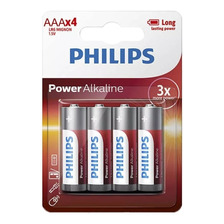 Pilas Alkalinas Philips Aaa Blister X 4 Unidades Powerlife