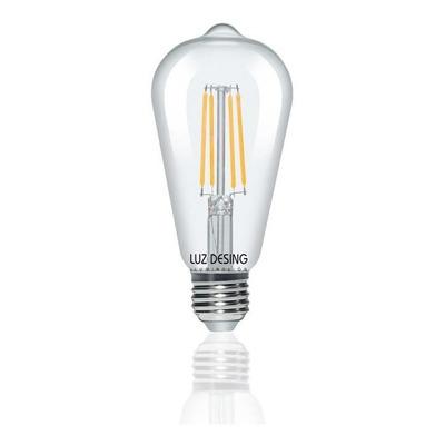 Lampara St64 Led Filamento Vintage 8w Dimerizable Luz Desing