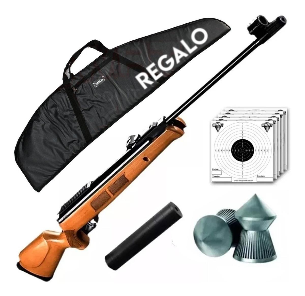 Rifle Nitro Pistón Gr1600 Potente Caza 1100 Fps Funda Swat