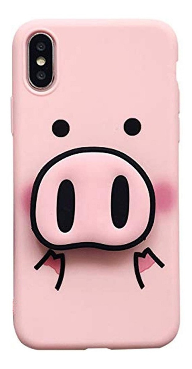 FUNDA ANIMAL PINK PIG PARA IPHONE 6