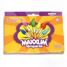TEMPERAS MAXXUM x10 POMOS x8cm3