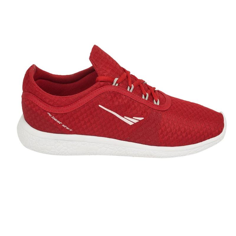 Deportivos rojos tela  018296