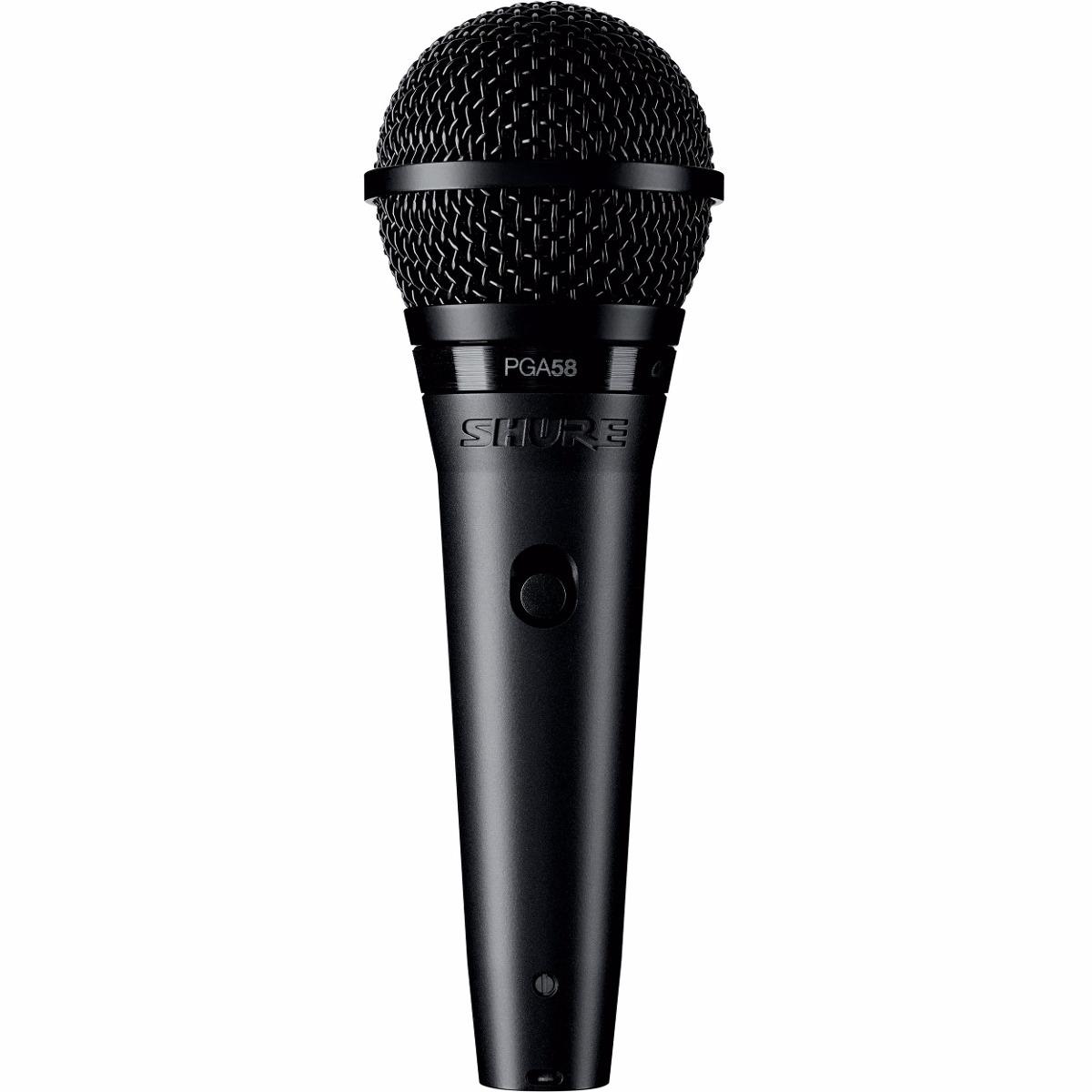 Micrófono Dinámico Cardiode Para Voces Shure Pga58 Xlr