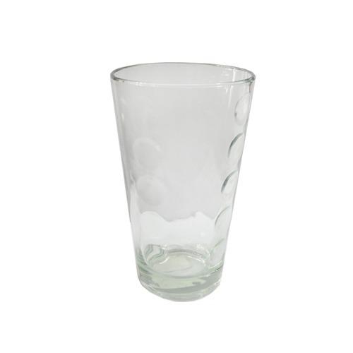 6 Vaso Vidrio Conico Bubbles Durax