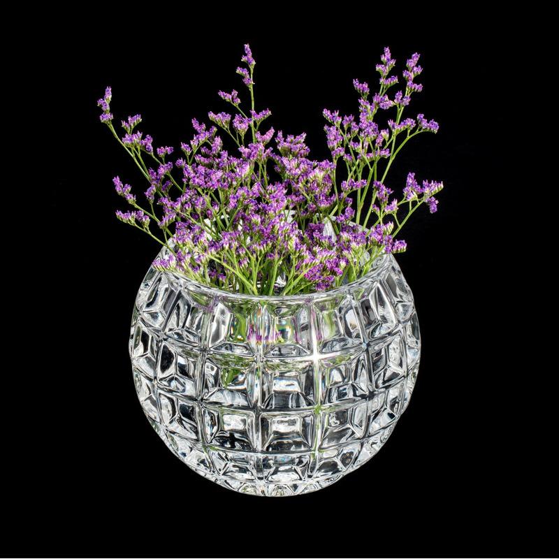Vaso De Cristal Rose 10X9Cm - Wolff 31025426