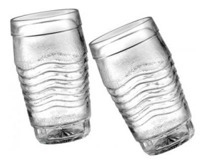 6 Vasos Wheaton Brasil Vidrio Modelos Itapema Crystal