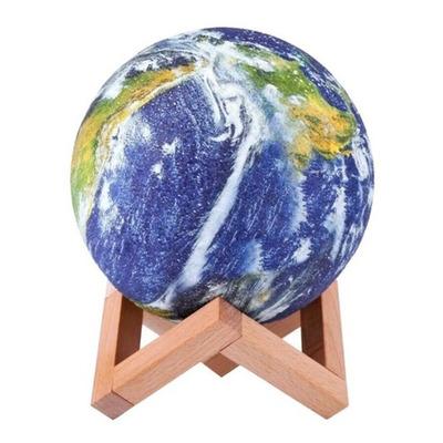 Lampara Velador Led Planeta Tierra Mesa Escritorio Usb Deco