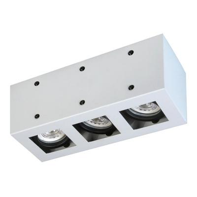 Plafon 3 Luces Con Led 7w Antideslumbrante Blanco Movil