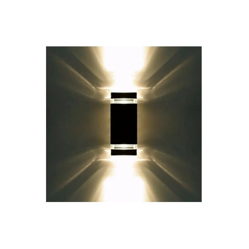 Bidireccional Aluminio Negro Exterior Frentes Gu10 Calidad
