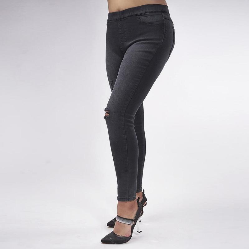 Pantalón Negro Ajustado 019399