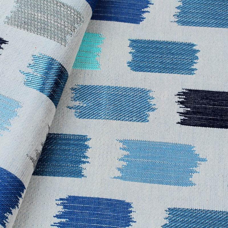 Tecido para decoração azul Coleção Vicenzza
