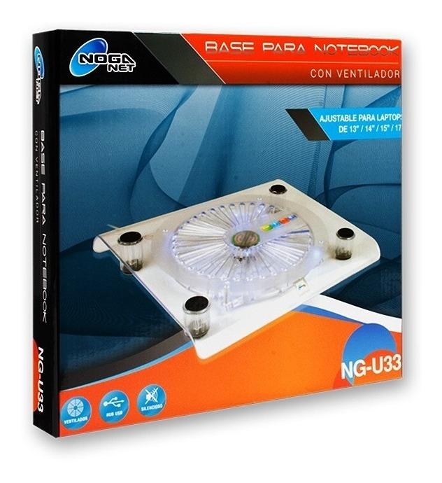 Base Para Notebook Con Cooler Noga Ng-u33 13 A 17 Pulgadas