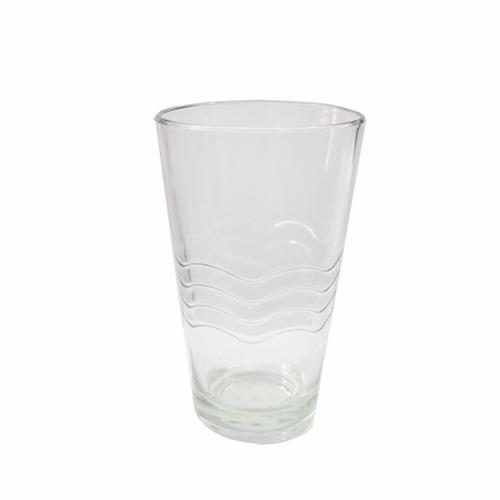 Set X 6 Vasos Vidrio Conico Transparente Durax Diseño Ondas
