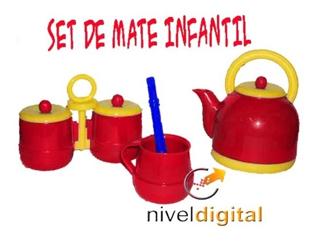 Juego Set De Mate Plastico Infantil Niño Pava Yerba Azucar