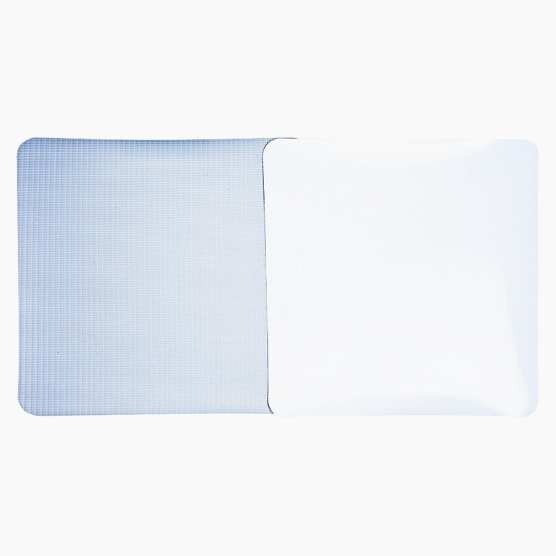Lona pvc para frontlight Superfront branca brilho avesso cinza  (440 g) larg. 2,50 m
