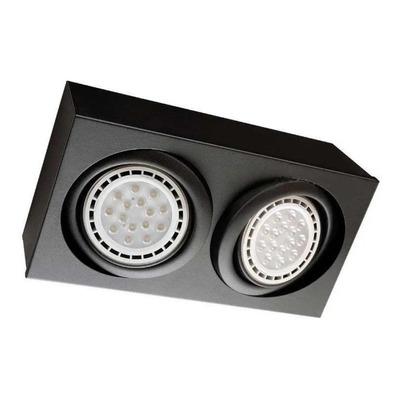 Plafon Spot Aplique Rectangular Ar111 Cardanico Gam 2 Luces