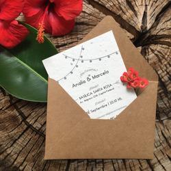 Kit Invitaciones Plantables + Tarjeta...