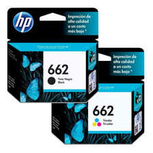 Cartuchos Hp 662 Combo Negro + Color Original P/ 1515 2545
