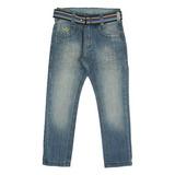 Calça Jeans Masculina Skinny com cinto Crawling