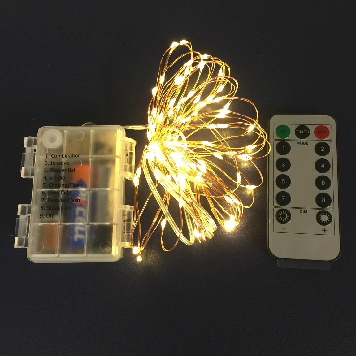 Luces Navideñas Pila 50 Micro Led 5 Metros A Control Remoto