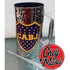 Vaso Guiro De Boca Juniors 3/4 L De Aluminio Grabado Xeneize