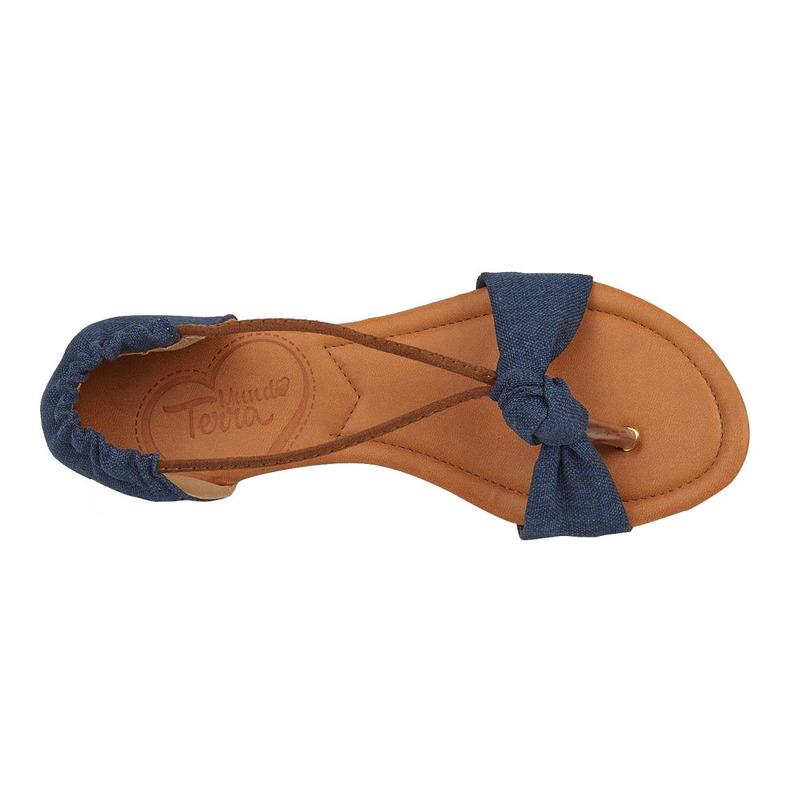 Sandalia piso marino tela  017507