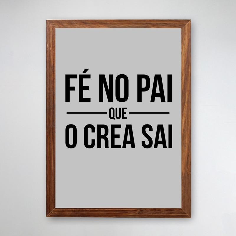 PÔSTER COM MOLDURA - FÉ NO PAI
