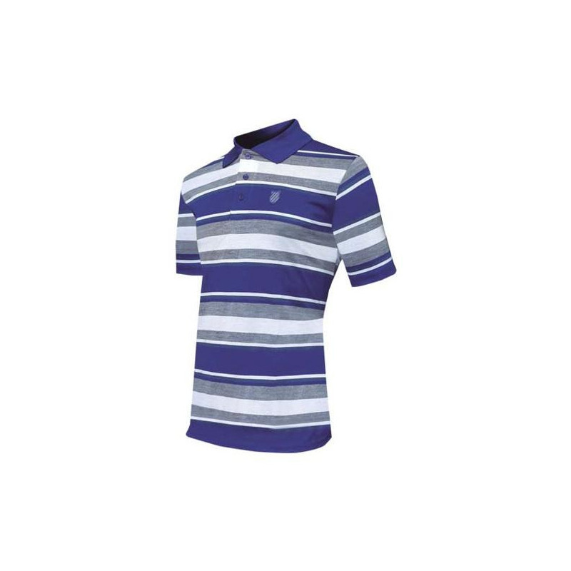 Camisa K-Swiss azul multicolor a rayas KP71MR