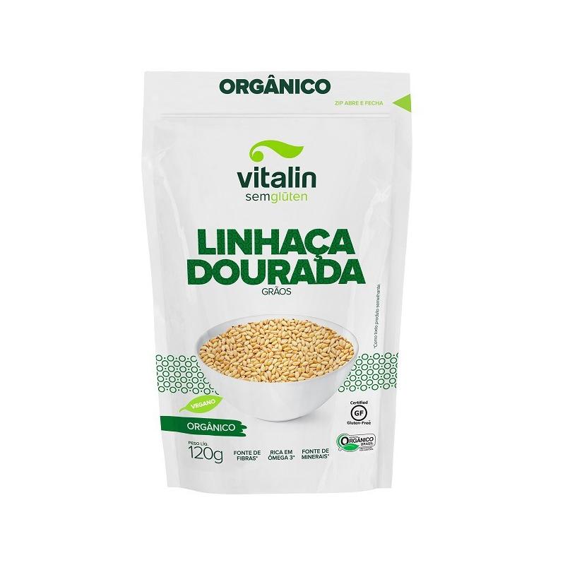 Semente de Linhaca Dourada Organica - 120g Vitalin