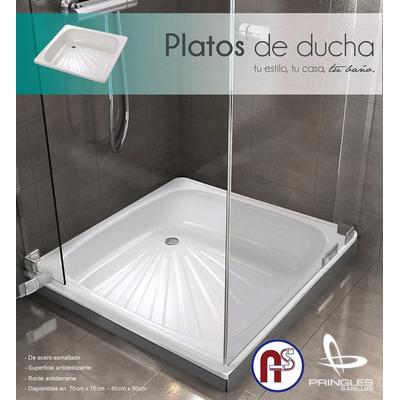 Plato de ducha acero esmaltado 80 x 80 sanitarios avellaneda for Plato ducha 60 x 80