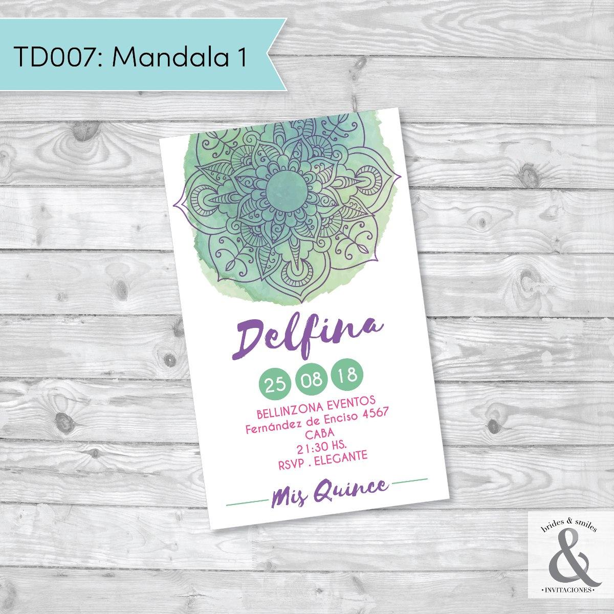 Invitación digital TD007 (Mandala 1)