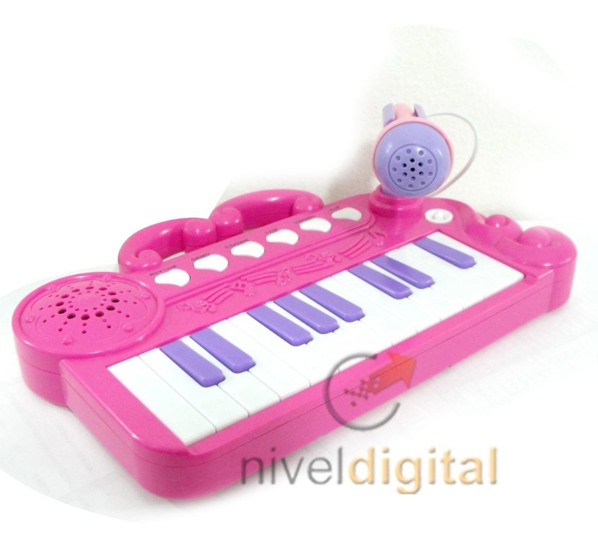 Piano Organo Musical Con Microfono Melodias Karaoke En Caja