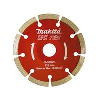 """Disco Diamantado Côncavo Segmentado 110 mm (4.1/2"""") Mak Fast Turbo - Makita - D-30623"""