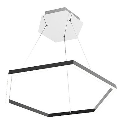 Lampara Colgante Led  Hexa Simple 60cm 40w  Luz Desing