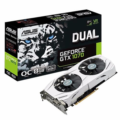 Placa De Video Asus Gtx 1070 8gb Ddr5 Dual White