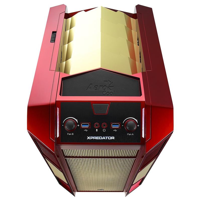 GABINETE GAME SEM FONTE AEROCOOL EN55118 XPREDATOR CUBE RG U3H