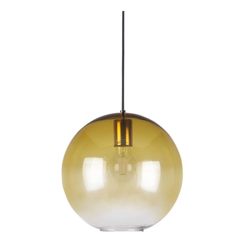 Colgante Globo 1 Luz Amarillo Aarhus L Moderno Apto Led Cie