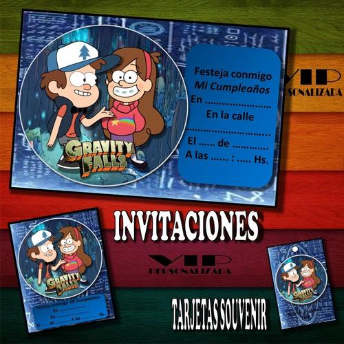 Kit Imprimible Gravity Falls Cumpleaños Bautismos En