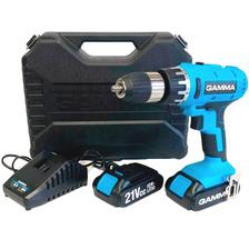 Taladro Atornillador Percutor 21v + 2 Bateria G12301a Gamma