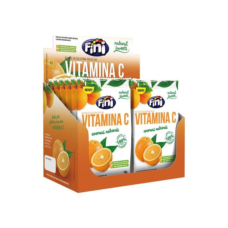 Balas de Gelatina Natural Sweets Vitamina C - Cx.12x18g Fini