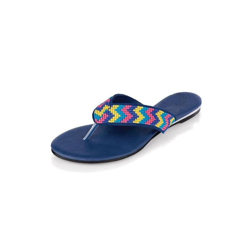 Sandalia piso azul multicolor 013072