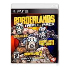 Borderlands Triple Pack Ps3 Fisico Original Sellado Nuevo