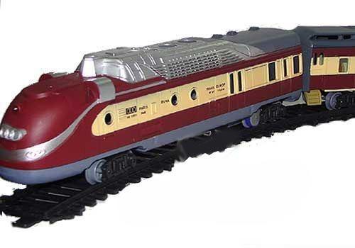 Tren Bala Fenfa Locomotora + Vagon Con Vias Y Luces Esc 1/87