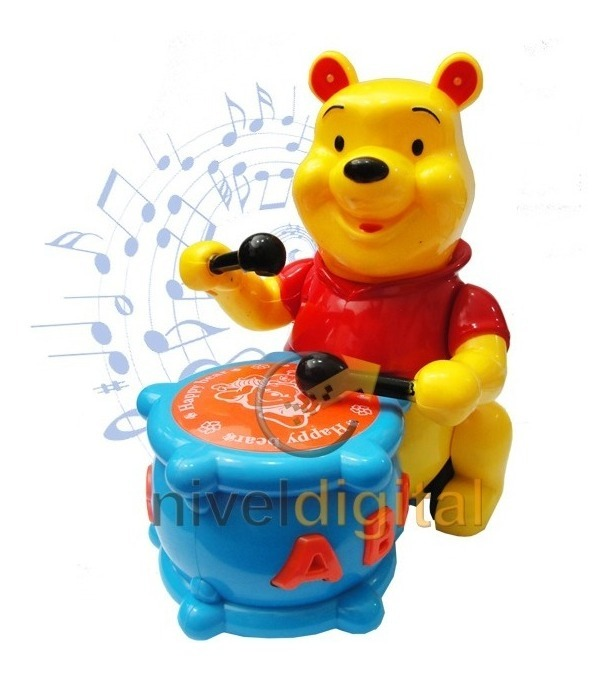 Winnie The Pooh Oso Musical Luces Sonidos Movimiento Caja