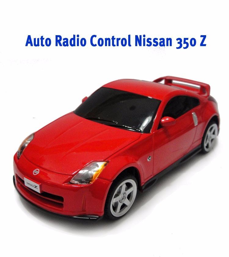Auto Nissan 350 Z Licencia Rojo 1/24 Radio Control Full Caja